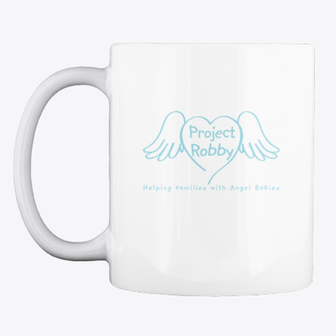 Project Robby Knitters White Mug Front
