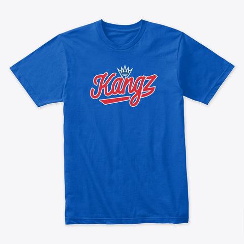 Kangz Shirt (Retro Blue) Royal Camiseta Front