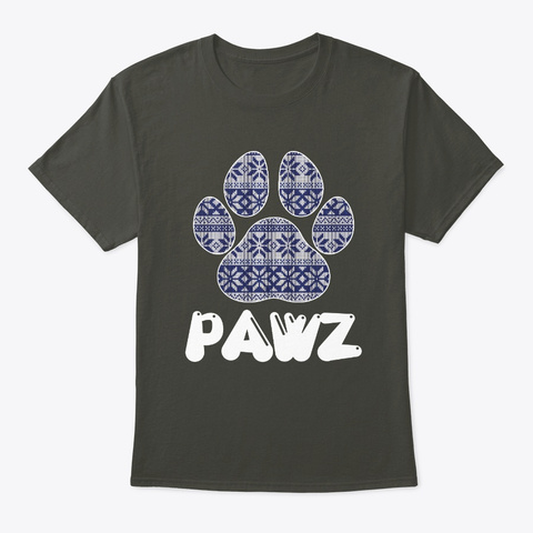 Pawz For A Cause Sweater Tshirt Smoke Gray T-Shirt Front