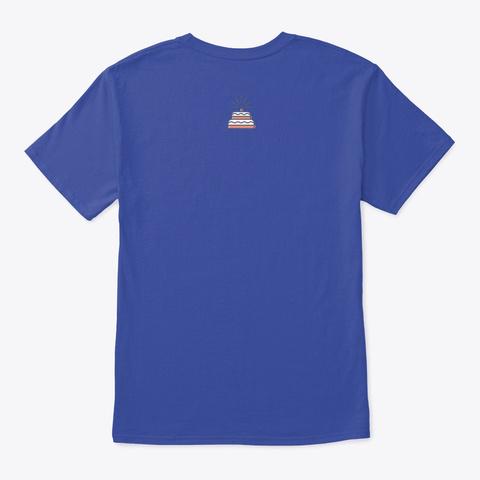 Quarantine Birthday Queen Deep Royal T-Shirt Back