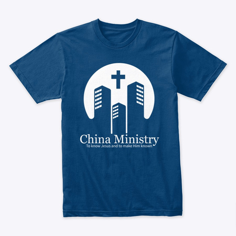 """""""China Ministry"""" T Shirt Cool Blue T-Shirt Front"""