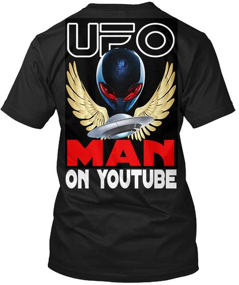 On Youtube Black T-Shirt Back