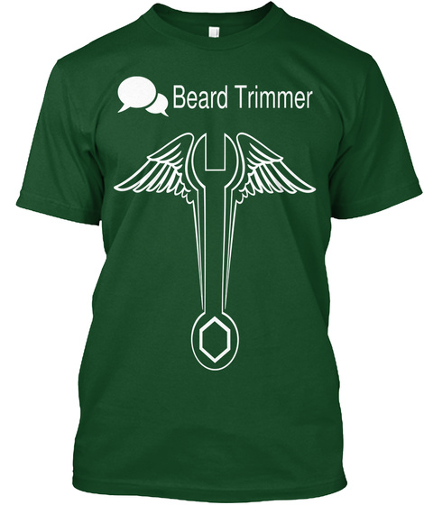 Beard Trimmer Deep Forest T-Shirt Front