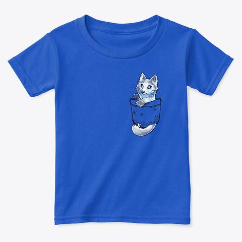 Pocket Cute Marble Fox Royal  T-Shirt Front