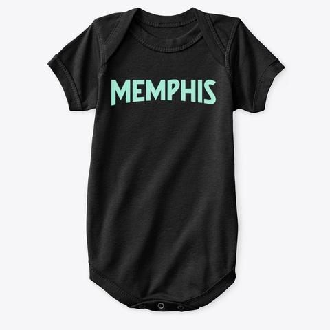 Memphis Black T-Shirt Front