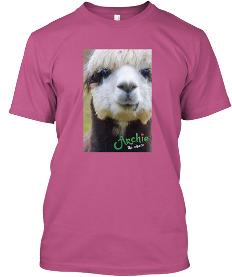 Archie The Alpaca Heliconia T-Shirt Front
