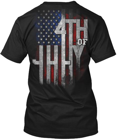 4th Of July Black T-Shirt Back