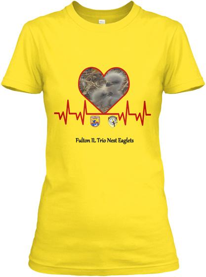 Fulton Il Trio Nest Eaglets Daisy Women's T-Shirt Front