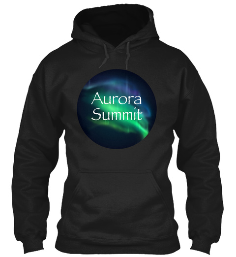 Aurora Summit Black T-Shirt Front