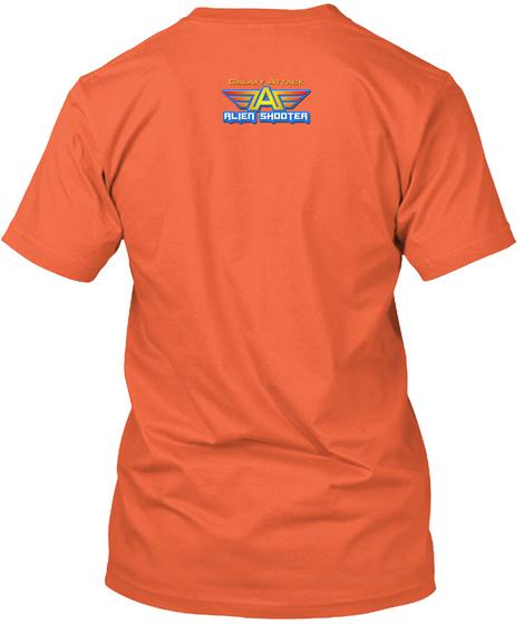 Galaxy Attack Alien Shooter Fan Club Orange T-Shirt Back