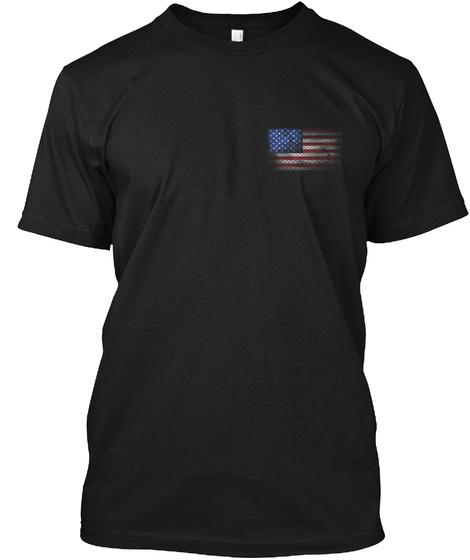 Veteran Distressed Flag Black T-Shirt Front