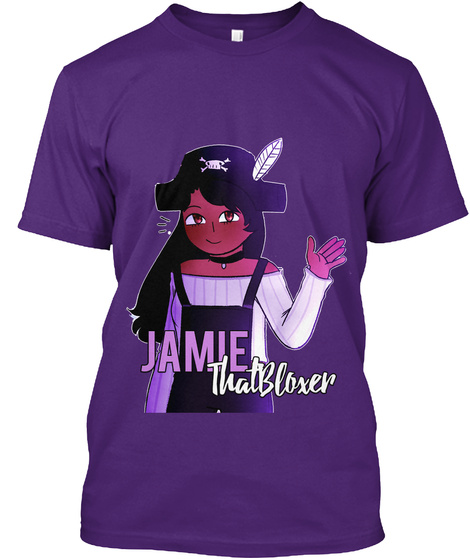 Jamie That Bloxer Merch   Roblox Purple T-Shirt Front