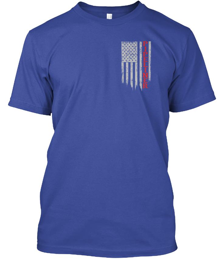 American-Pipeliner-Flag-Hanes-Tagless-Tee-T-Shirt thumbnail 8