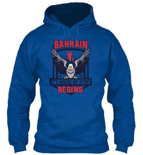 Bahrain Eagle Shirt Royal T-Shirt Front