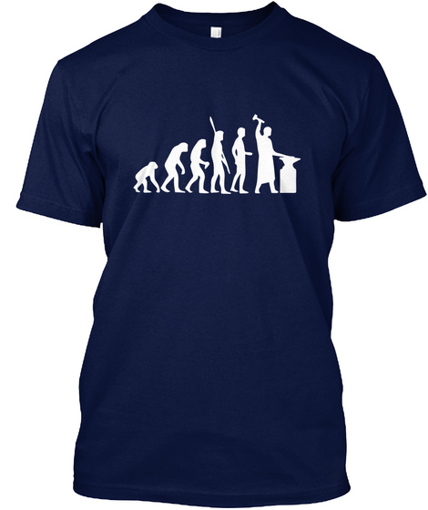 Blacksmith2 Navy T-Shirt Front