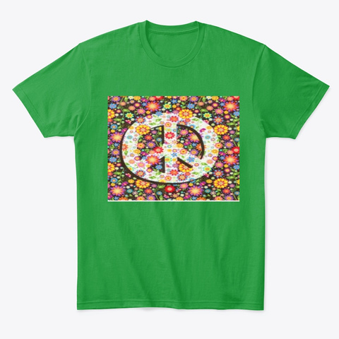 Peace Sign  Kelly Green Maglietta Front