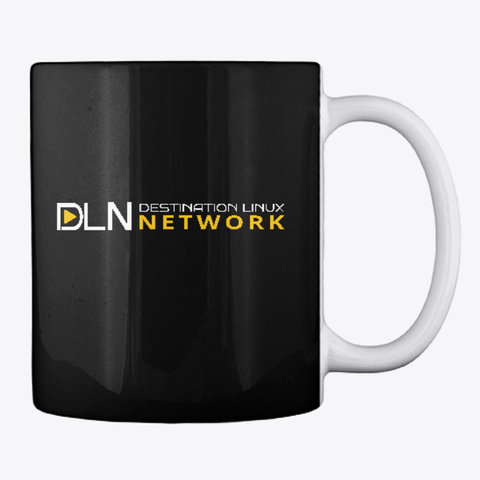 Dln Launch Mug   Dark Mode Black T-Shirt Back