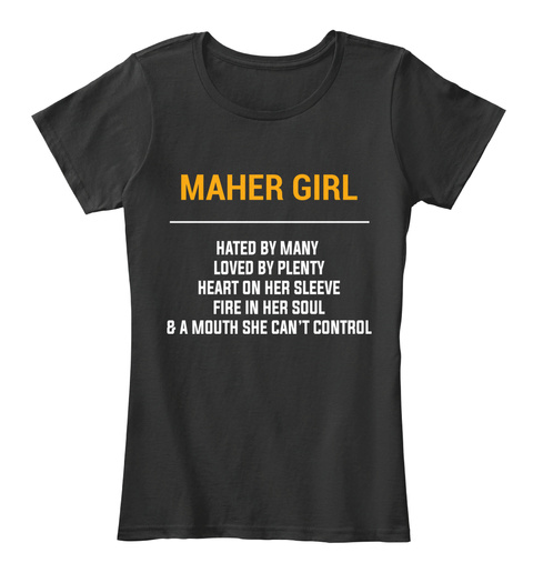 Maher Wv Girl   Heart On Sleeve. Customizable City Black Women's T-Shirt Front