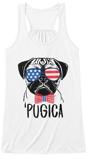 'pugica White Women's Tank Top Front