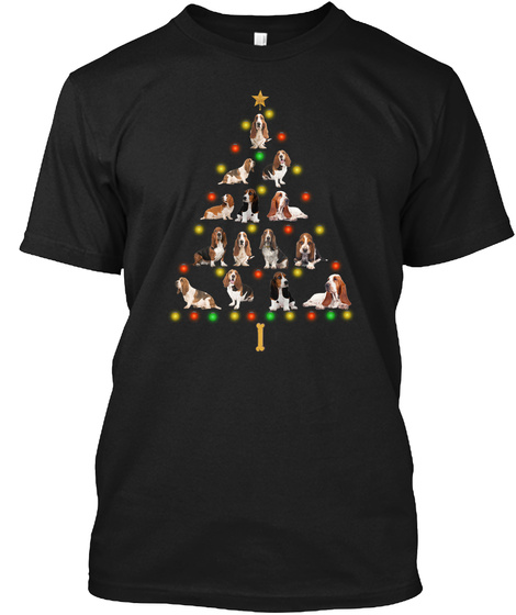 Awesome! Basset Christmas Gifts 2020 Black T-Shirt Front