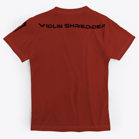 Violin Shredder   Men's Dark Red T-Shirt Back