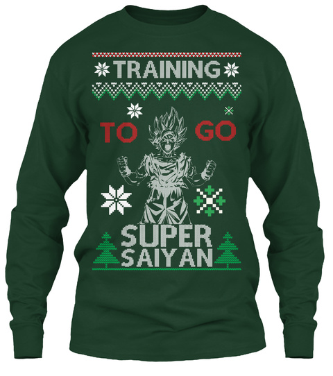Best Super Training Christmas  Tee!!  Forest Green Long Sleeve T-Shirt Front