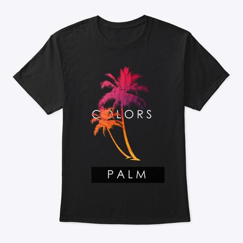 Palm Colors Black T-Shirt Front