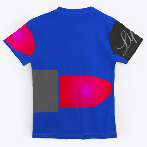 Lipstick Royal Blue T-Shirt Back