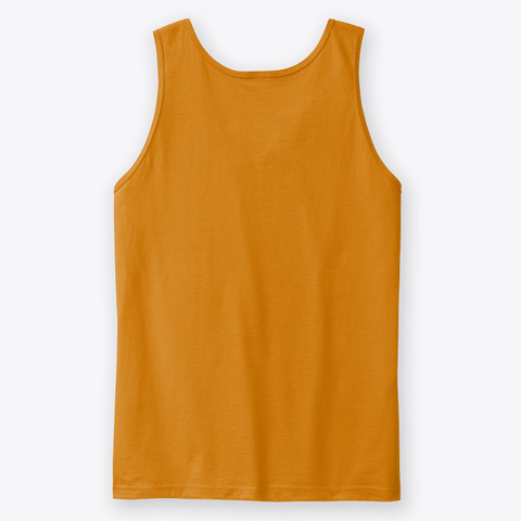 Determined By: Lisa Guzman Orange Tank Top Back