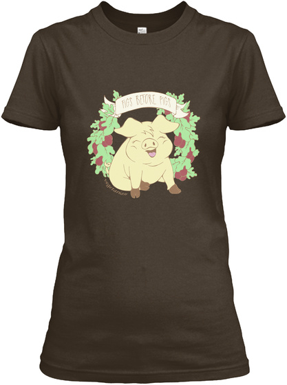 Figs Before Pigs Dark Chocolate T-Shirt Front