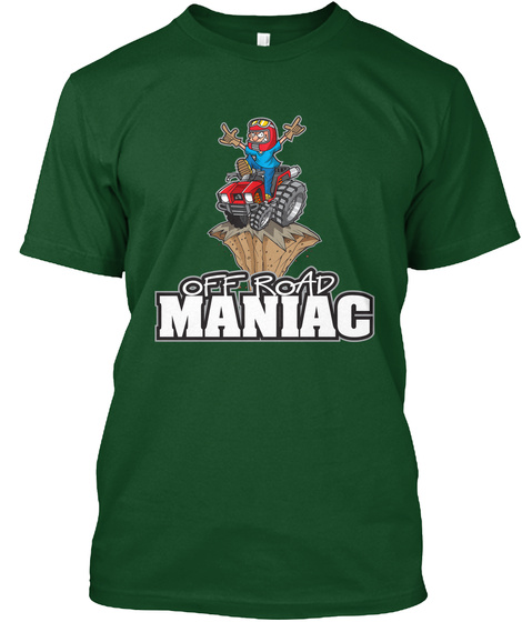 Off Road Maniac Deep Forest Camiseta Front