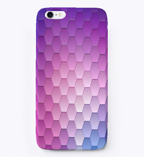 Purple Abstract Texture I Phone Case Standard T-Shirt Front
