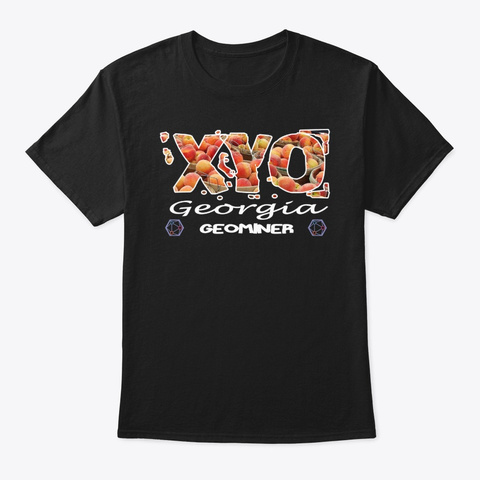 Xyo Georgia Design Black T-Shirt Front