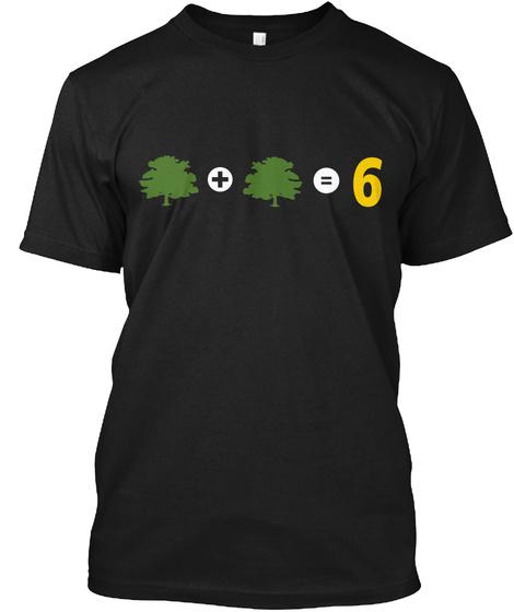6 Black T-Shirt Front