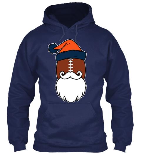 Mile High Santa Hoodies 🎄🎅🎁$29.99 😳 Navy T-Shirt Front