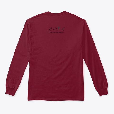 Worship Series   Black Font Cardinal Red T-Shirt Back