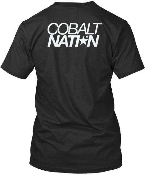 Cobalt Natin Black T-Shirt Back