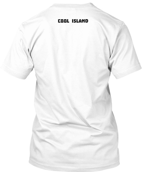 Cool Island White Maglietta Back