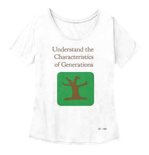 Understand The  Characteristics Of Generations White  Women's T-Shirt Front