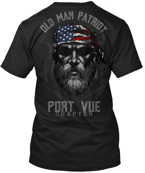 Port Vue Old Man Black T-Shirt Back