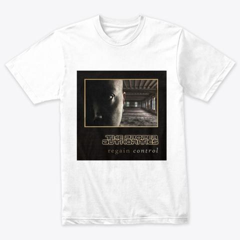 Regain Control: Album Cover Heather White T-Shirt Front
