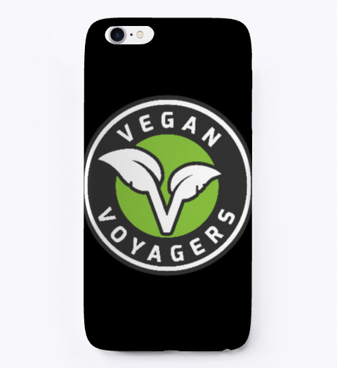 Vegan Voyagers Phone Cases Black T-Shirt Front