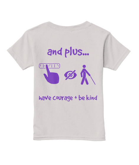 And Plus... Have Courage + Be Kind Sport Grey  T-Shirt Back