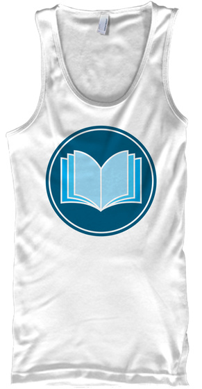 Support Indie Authors Tank White T-Shirt Front