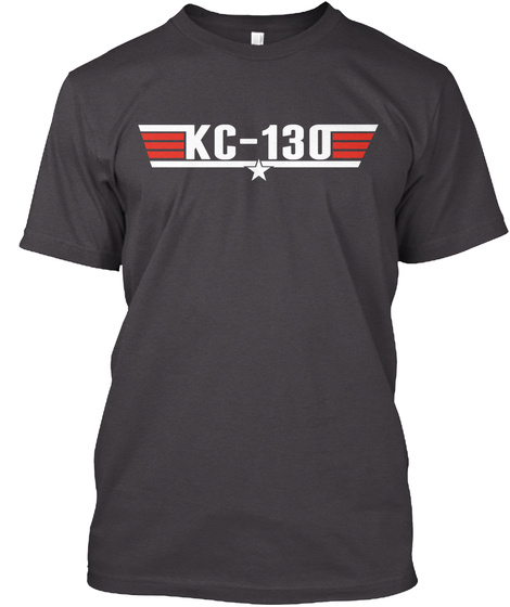 Kc 130 Heathered Charcoal  T-Shirt Front