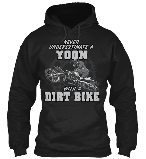 Yoon With A Dirt Bike Black T-Shirt Front