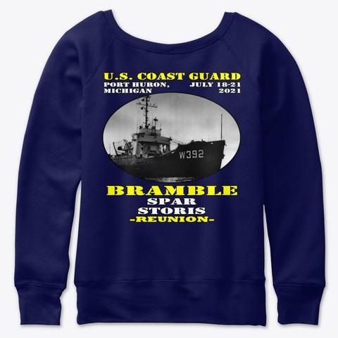 Bramble (Wlb 392) Pre Racing Stripe Navy  T-Shirt Back