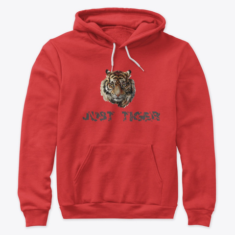 Nice T Shirt Just Tiger Red T-Shirt Front