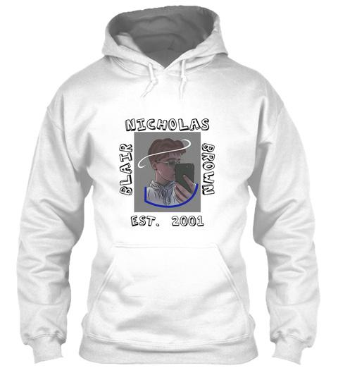 Nicholas Brown Blair Est. 2001 Arctic White T-Shirt Front