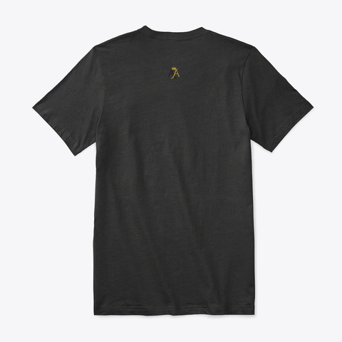 Let's Be Two Authentic Souls Black T-Shirt Back